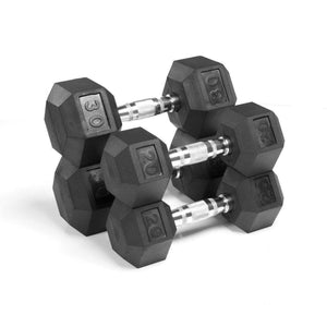 Dumbbell - Xmark Premium Quality, Rubber Coated Hex Dumbbells - 100 Lb. Set