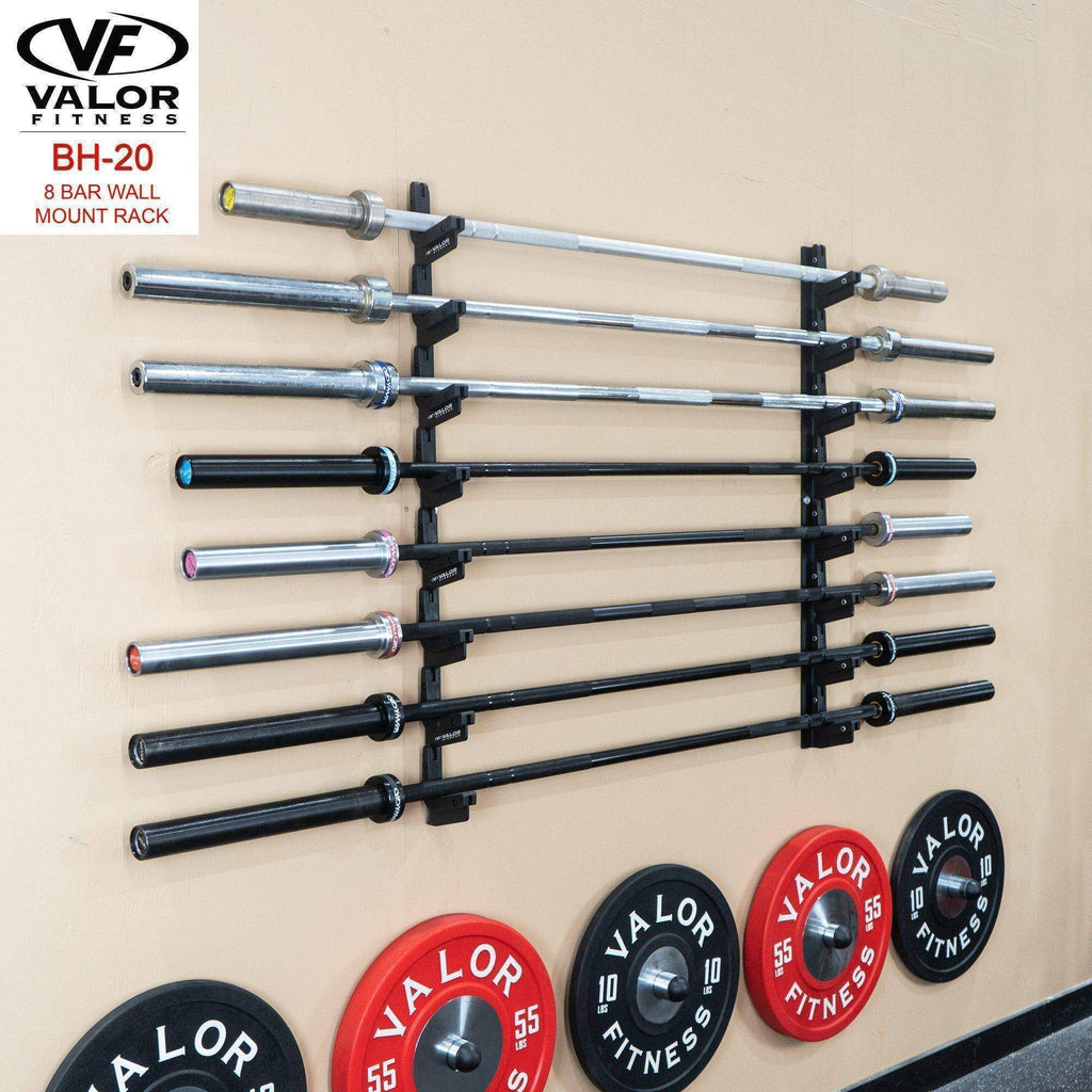 Valor Fitness BH-20 8 Bar Wall mount rack - Fitness Gear