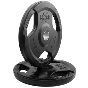 Weight Plates - XMark Rubber Coated Tri-grip Olympic Plate Weight (Pair) XM-3377-35-P