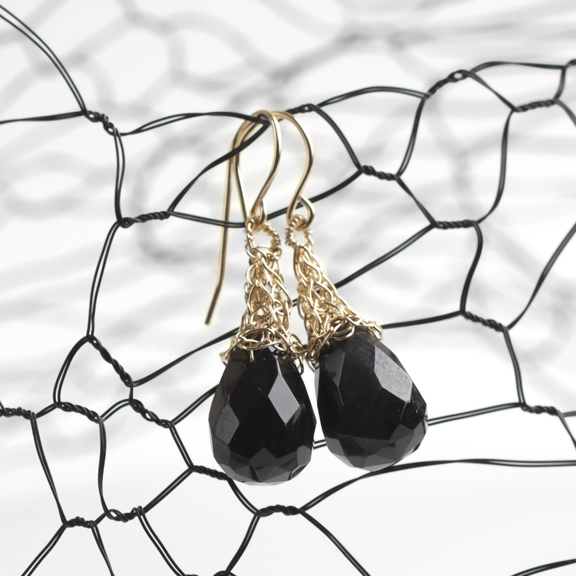 Black Onyx Earrings - Yooladesign