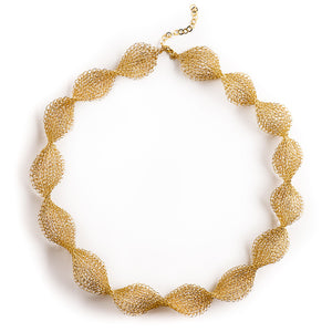 INFINITY Wire Crochet Gold Bridal Necklace - Yooladesign