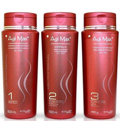 Soller Brazilian Keratin Treatment Agi Max Kera-X System Progressive Brush Kit 3x500ml - S'ollér