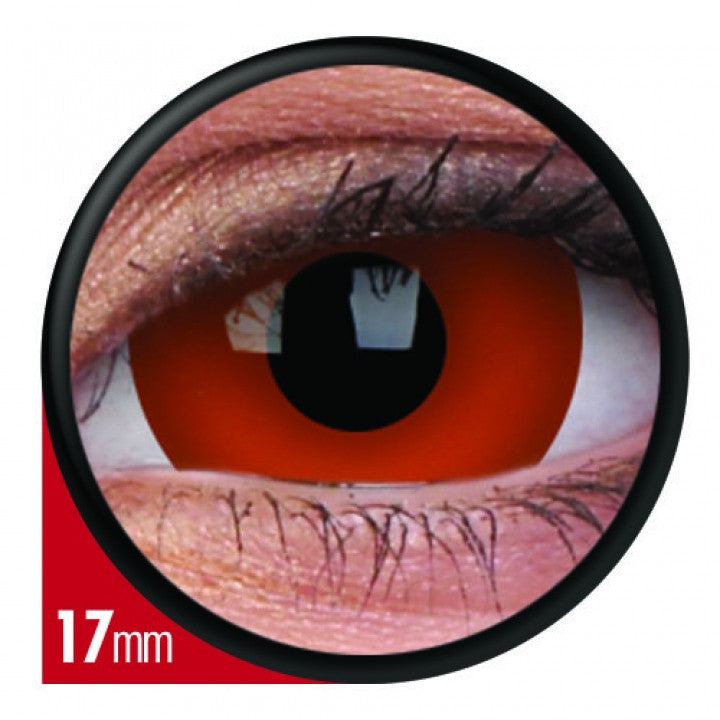 Red Mini Scleral Coloured Contacts