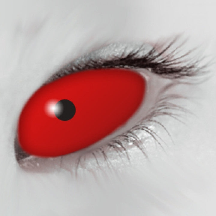 Red Scleral Full Eye Coloured Contacts