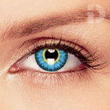 Yellow / Blue Coloured Contacts