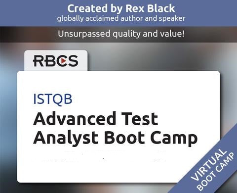 ISTQB Virtual Advanced Test Analyst Boot Camp