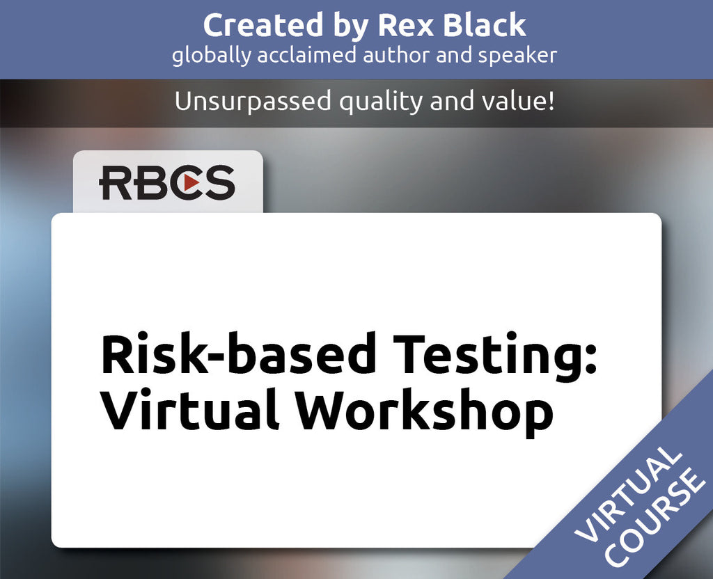 Risk-based Testing: Virtual Workshop