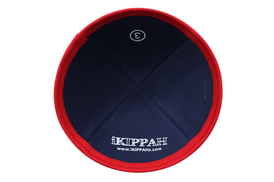 IKIPPAH  DENIM W/ RED RIM YARMULKE
