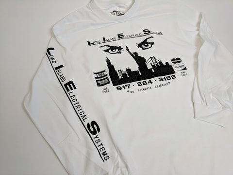 L.I.E.S. Records - Eyes and The Ears - White long sleeve