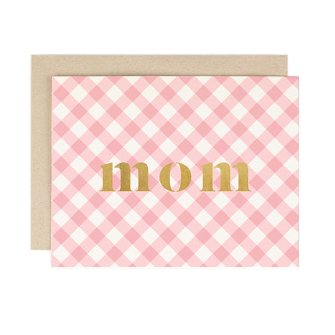 Mom Plaid Card