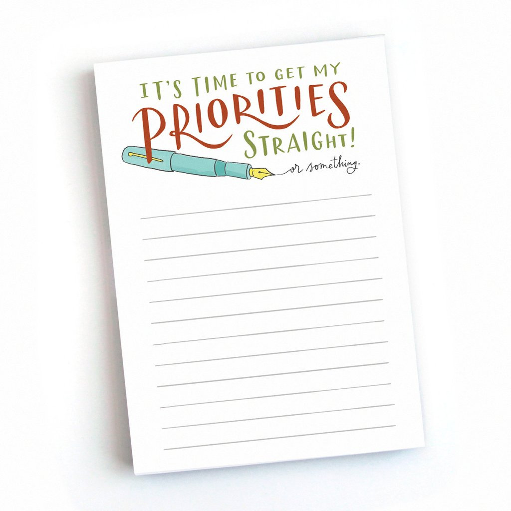 Priorities Notepad