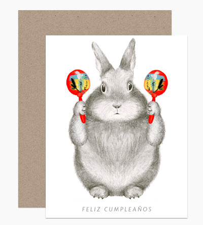 Maracas Bunny Birthday Card