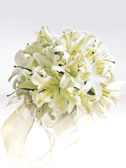 Exotic White Lily Bridal Bouquet