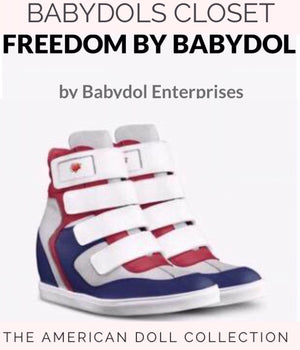 The FREEDOM Red/White/Blue Hi Top Sports Sneaker
