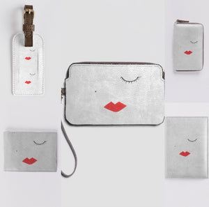 LIPSTICK GIRL Leather Luggage Tag