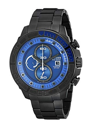 CA0525-50L Citizen Men's Eco-Drive Super Titanium Blue Dial Watch