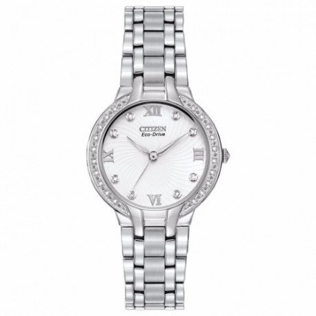 "EM0120-58A Citizen Women's ""Bella"" Eco-Drive Watch With Diamonds"
