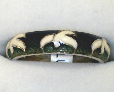 3 Dove Enamel Hidalgo Ring