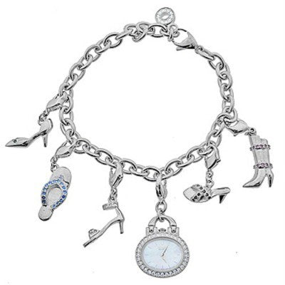 EG2390-53D Citizen Eco-Drive Ladies' Charm Bracelet Watch