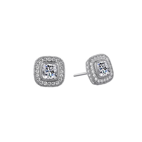 Regal Cushion Cut Stud Earrings - Lafonn E0036CLP00