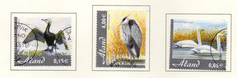 Aland Finland Scott  230-2 2005 Birds stamp set used