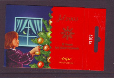 Iceland Scott  1003a 2003 Christmas stamp booklet mint NH