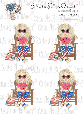CT00002 Beach Holiday Pre-Colored Card Topper Digital Download