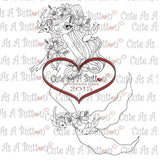 RS00005 Seaweed Mermaid Clear Cling Rubber Stamp