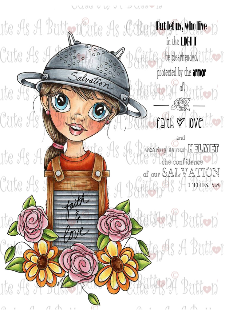 IMG00418 Protected by Faith - Bible Journaling Bookmark Digital Digi Stamp