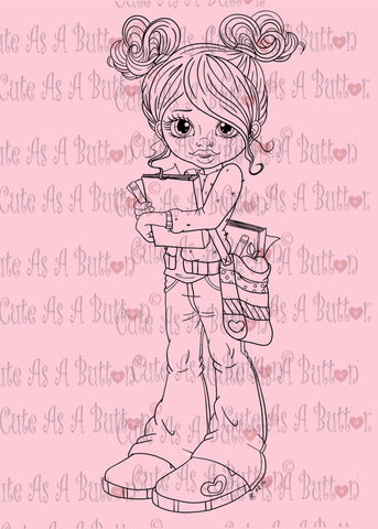 Cute As A Button Designs IMG00459 Hipster Emmelie Digital Digi Stamp