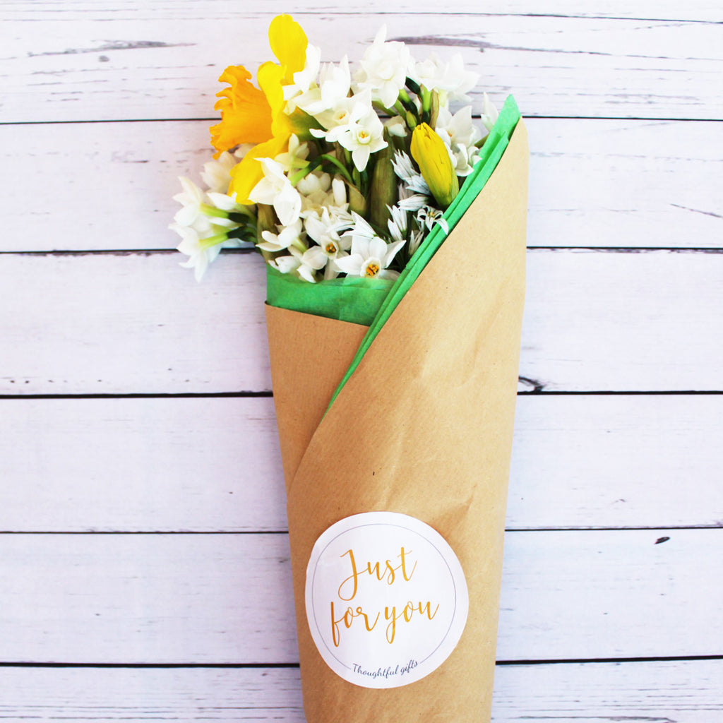 Yellow Flower Wrap With Seeds Gift - Wrap and Grow Set - Kelly Rideout Design