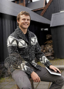 Icelandic sweaters and products - Ari Mens Wool Cardigan Tailor Made - NordicStore