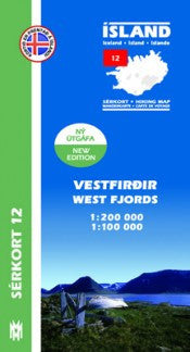 - Icelandic Hiking Map 12 - West Fjords - 1:100.000 - Maps - Nordic Store Icelandic Wool Sweaters