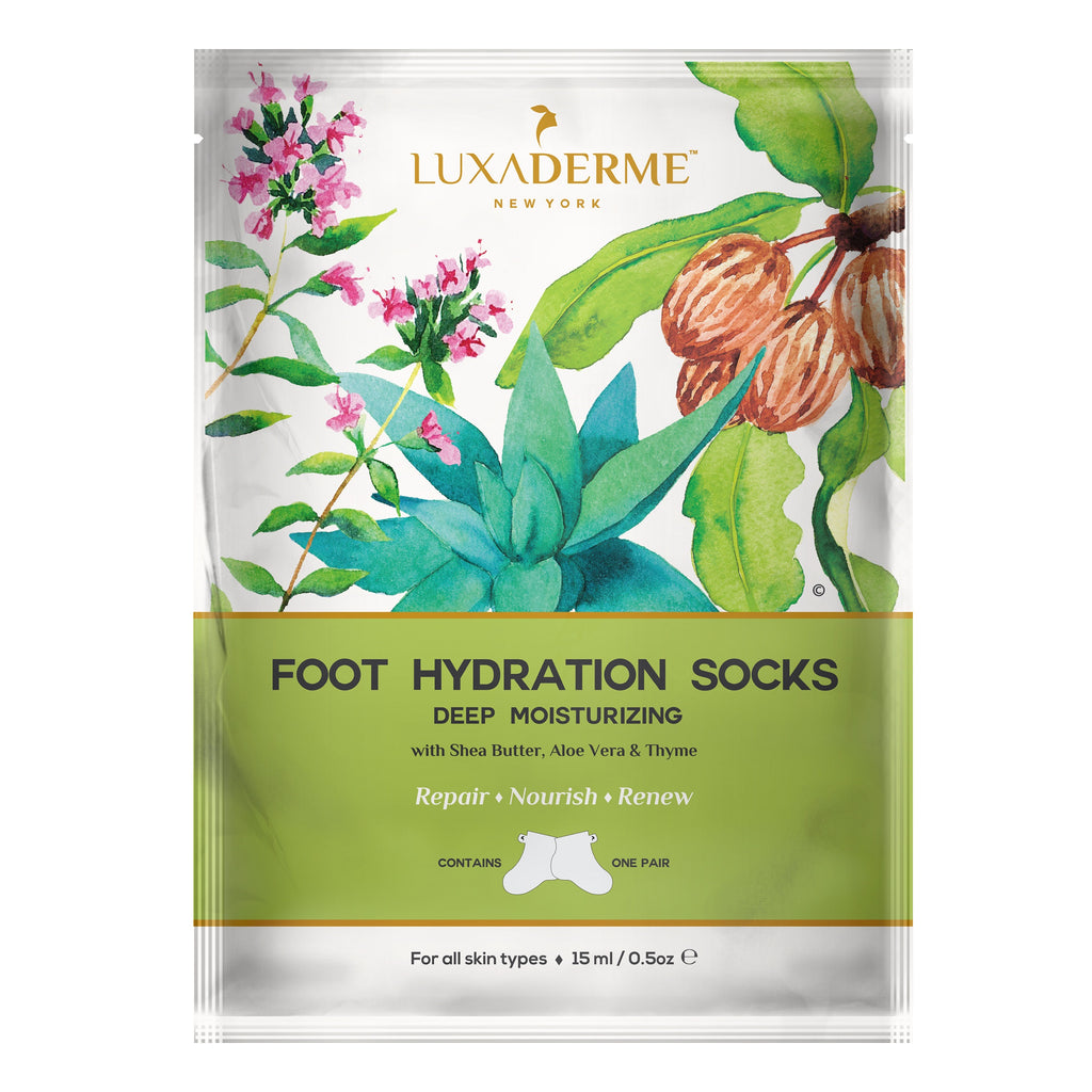 LuxaDerme Deep Moisturizing Foot Hydration Socks