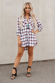 Summer Night Flannel Top (White Multi)