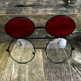 Vintage Steampunk Hippie Round Flip Up Tinted Color Lens Sunglasses - NikkiEyewear.com - 8
