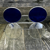 Vintage Steampunk Hippie Round Flip Up Tinted Color Lens Sunglasses - NikkiEyewear.com - 11