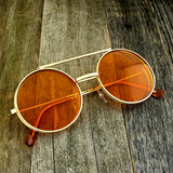 Vintage Steampunk Hippie Round Flip Up Tinted Color Lens Sunglasses - NikkiEyewear.com - 5