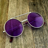 Vintage Steampunk Hippie Round Flip Up Tinted Color Lens Sunglasses - NikkiEyewear.com - 21