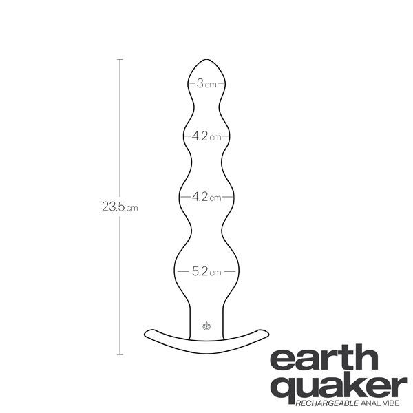 Earth Quaker Vibrating Anal Beads