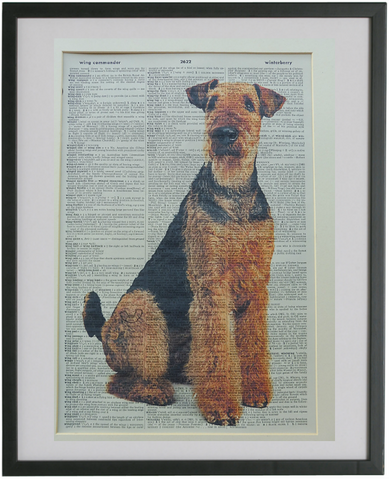 Airedale Terrier Dog Print No.772