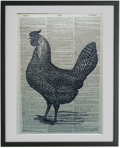 Chicken Print No.631, bird print
