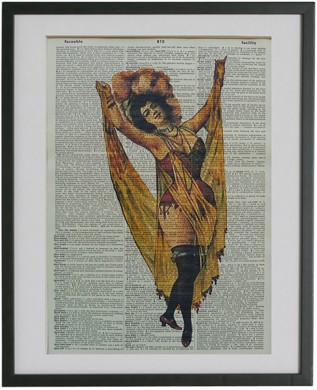 Burlesque Dancer Print No.488, miscellaneous