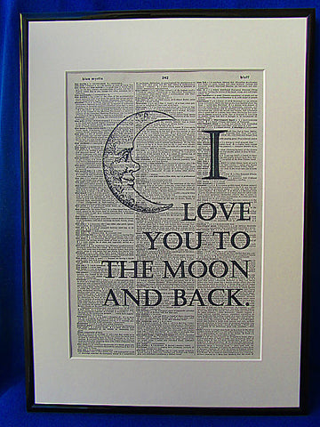 I Love You To the Moon Print No.7, inspirational