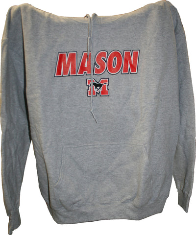 Hoodie - Grey with Red Lettering