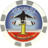 Thunderbirds Air Force Collector Set 5 Chips - Spinettis Gaming - 2