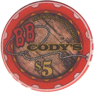 B.B. Cody's Casino $5 (Horse) Chip