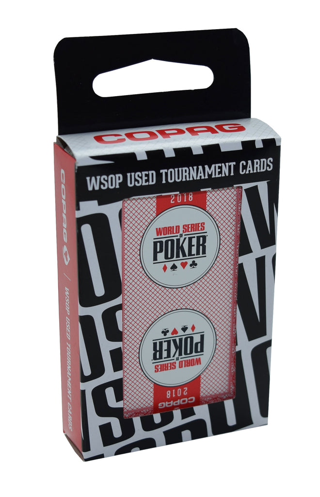 2018 Red Authentic Deck Used at WSOP Copag 100% Plastic Playing Cards Bridge Standard Index