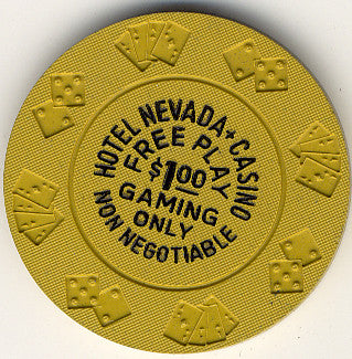Hotel Nevada $1 (non-negotiable) Free Play chip Diecar