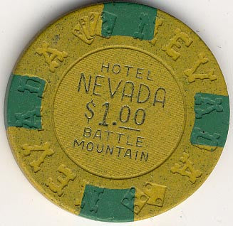 Nevada Hotel $1 (yellow) chip